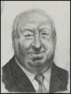 Picturi alb negru Alfred hitchcock