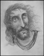 Picturi alb negru Isus