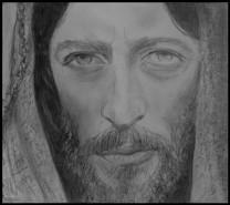 Picturi alb negru Isus 3