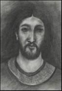 Picturi alb negru Isus 4