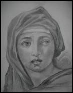 Picturi alb negru Sibyla din delphi