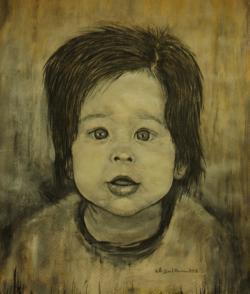 Picturi alb negru Curiozitate de copil