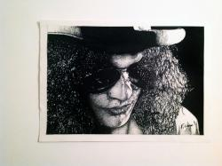 Picturi alb negru Portret Slash