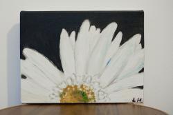 Picturi alb negru floare alba