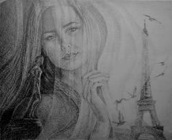 Picturi alb negru Paris