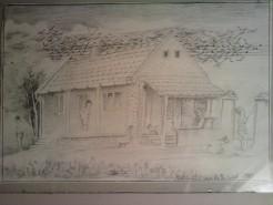 Picturi alb negru Casa de la capat