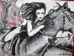 Picturi alb negru Riding with me!