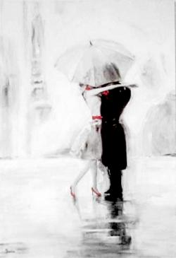 Picturi alb negru Under The Umbrella