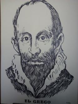 Picturi alb negru El Greco