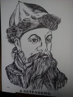 Picturi alb negru Gutenberg