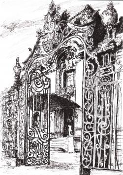 Picturi alb negru Castelul Sturdza Bucuresti