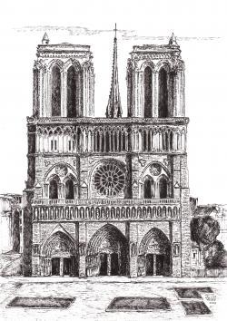 Picturi alb negru Catredrala Notre Dame
