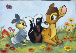 Picturi cu animale Prietenii padurii