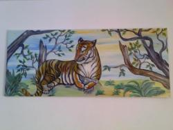 Picturi cu animale TIGRU CU PRADA