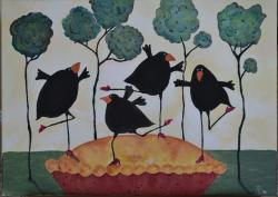 Picturi cu animale Dancing in the pie