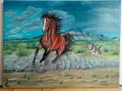 Picturi cu animale La galop