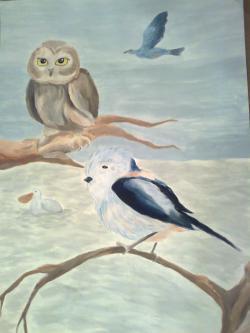 Picturi cu animale Păsări pufoase