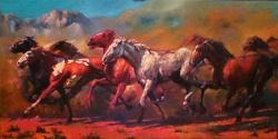 Picturi cu animale CAI SALBATICI 01