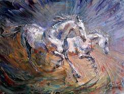 Picturi cu animale  in galop