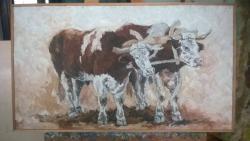 Picturi cu animale boi in jug