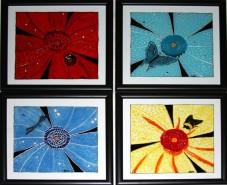 Picturi cu animale Set de 4 tablouri