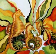 Picturi cu animale Dansul cailor de mare