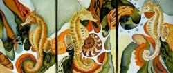 Picturi cu animale Simfonia calutilor de mare
