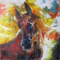 Picturi cu animale SAD  STALLION