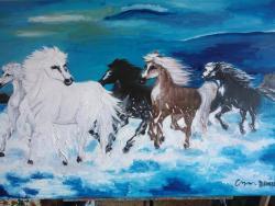 Picturi cu animale caballos cod138