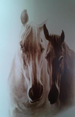 Picturi cu animale cai pe pereti