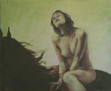 Picturi cu animale Fata verde2