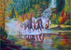 Picturi cu animale Feeria tarpanilor