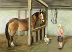 Picturi cu animale tentatie cu un morcov