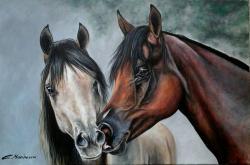 Picturi cu animale Cai indragostiti 1