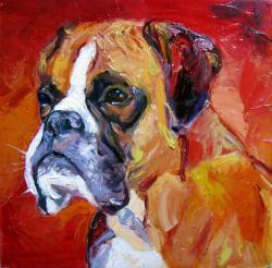 Picturi cu animale Boxer