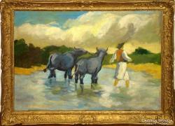Picturi cu animale TRECEREA RIULUI