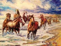 Picturi cu animale Inceput de furtuna
