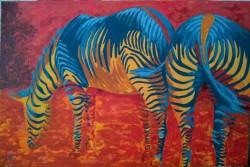 Picturi cu animale Zebre