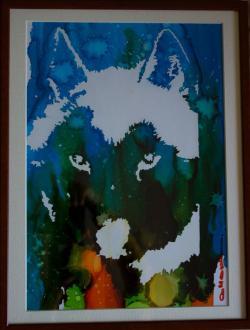 Picturi cu animale Husky 2