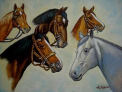 Picturi cu animale Tablou cu cai