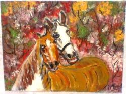 Picturi cu animale cai indragostiti