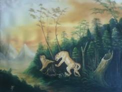 Picturi cu animale Leoparzi