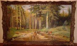 Picturi cu animale Cerbul si Caprioara