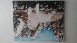 Picturi cu animale lei albi in munti