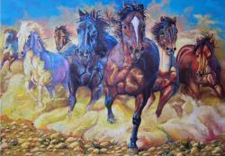 Picturi cu animale Herghelie de cai
