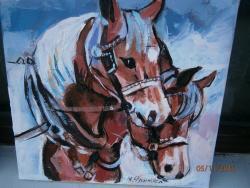 Picturi cu animale portret cal 3