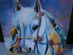 Picturi cu animale portret cal 4
