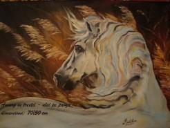 Picturi cu animale Amurg in trestii