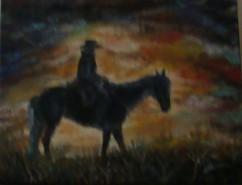 Picturi cu animale Horse silhouette iii