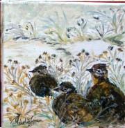 Picturi cu animale Potarnichi iarna
